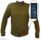 NWT Hugo Boss Pima Lightweight Sweater Two-way Zip Mockneck Sweatshirt Size XL
