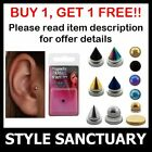 Fake Clip-on Magnetic Tragus Stud Earring Helix Ear Ring Bar Jewellery Piercing