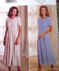 Womens dress pattern front tuck flared semi fitted sz 6 8 10 18 20 22