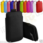 Premium PU Leather Pull Tab Pouch Case Cover For Blackberry Bold 9790