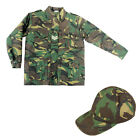 Kids Boys Army Soldier Camo Baseball Cap & Jacket Fancy Dress Up Costume Outfit