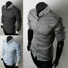 Men's Korean Classic Fashion Slim Special Collar Casual Shirt XS-M 3 Color 2631