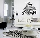 Giant Zebra Wall Art Decal, Sticker, Mural Different Sizes / Colours Avail (Z2)