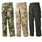 MENS ARMY CARGO CAMO TROUSERS DESERT BLACK COMBAT MILITARY SOILDIER POLICE WORK