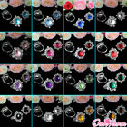 24 Diamond Gem Napkin Ring Serviette Holder Wedding Banquet Dinner Decor Colors