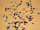 Approx 75 Oval Rhinestones Flat Back Gems Various Colours 8mm x 6mm