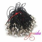 New Wholesale Black Cell Phone Strap Charm Cords Lariat Clip Lanyards Rope Lots