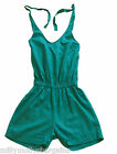 New Ladies Womens Green Linen NEXT Playsuit Shorts Size 6 8 10 12 14 16 18 RP£30