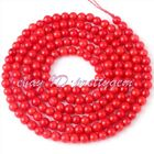 2MM TINY ROUND RED CORAL SPACER JEWELRY MAKING LOOSE GEMSTONE BEADS STRAND 15""