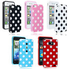 Stylish Polka Dots Series Soft Silicone Rubber Gel Mobile Phone Back Case Cover