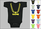 Personalized Custom Name Gold Chain Hip Hop Baby One Piece, Creeper, T-Shirt