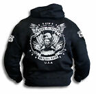 Biker Harley Pistons Ride the Best Route 66 Sleeve Print Mens Hoody Sm - 2XL