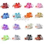 "200pcs 3"" x 3.5"" Sheer Organza Wedding Favor Gift Bag Pouch 7cm x 9cm"