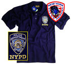 NYPD POLO T-SHIRT NAVY BLUE SHORT SLEEVE WITH TAGS OFFICIALLY LICENSED BY NYC
