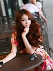 "★FUNNYWIG★ 20""12PCS CLIP ON WAVE HAIR WIG/WIGS FASHION 7COLOR"