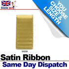 3mm 6mm DOUBLE SIDED SATIN RIBBON - OLD GOLD  - 5m 10m 25m Metres - SM268