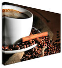 Large For Coffee Shop Cup & Beans 1 Canvas Wall Art Picture