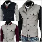 (DJK5) THELEES Mens Casual 2 Tone Pocket Stretchy Fashionable Baseball Jacket