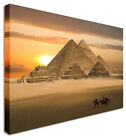 LARGE Wall Art Great Pyramids Canvas Pictures For Home Interiors