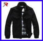 Mens NEW Fashion HOT Army Worsted Jackets Coats Black size L XL