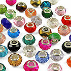 FACETED LAMPWORK Murano Glass BEADS for CHARM BRACELETS