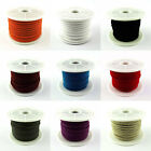 25 Metres Faux Suede Flat Cord 3mm - Jewellery Making Stringing Crafts