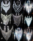 New Set Bridal Wedding Party Fashion Crystal Rhinestone Necklace More Styles