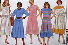 Vtg 80s womens pattern 2 pc dress pullover top blouse skirt sz 8 10 12 14 16 18