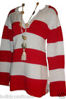 NEW LADIES WOMANS WINTER WARM COTTON JUMPER RED WHITE SIZE 10-12 UK