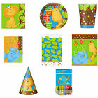 Jungle Party Tableware Plates Cups Napkins Tablecover Kids Children Decorations
