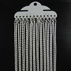 """12 x Silver Plated TWISTED ROPE Necklace Chains 16"""" or 18"""""""