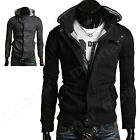 Men's Zipper Hoodie Sweater Hooded Long Sleeve Thick Coat  Warm Motobycle Jacket