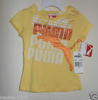 Puma Toddler Girls Yellow T-Shirt  SIZE-2T or 3T NEW
