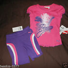 Puma Girls 2 Piece Pink Short  Outfit  Size -4 or 6  NWT