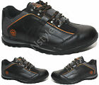 MENS GROUNDWORK SAFETY TRAINERS BLACK STEEL TOE CAP WORK LACE UP SHOES