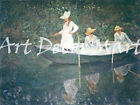 In The Boat Monet - - CANVAS OR PRINT WALL ART