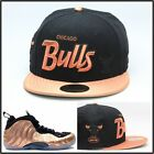 New Era Chicago Bulls Custom Fitted Hat Designed For The Air Foamposite Copper