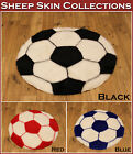 NEW WASHABLE SOFT FAKE FAUX FUR RED BLUE BLACK WHITE FOOTBALL SHEEP SKIN RUGS
