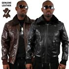 AVIATRIX BOSTON FLYING GENUINE LEATHER JACKET BLACK OR BROWN BOMBER PILOT FLIGHT