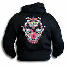 Music is My Life Mens Womens Tattoo Hoodie Hooded Top Sm - 2XL Rear Print