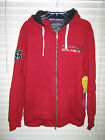NWT Nautica Jeans Company Full Zip Poly Cotton Long Sleeve Red or Gray Hoodie