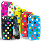 POLKA SERIES SILICONE GEL CASE COVER + SCREEN GUARD FOR SAMSUNG GALAXY S3 I9300