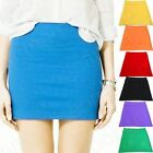 New Women's Shorts A-Line S Body Mini Elastic Skirts Casual Career Club Stetchy