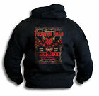 Mens Hoodie Thunder Road Hard Core Highway To Hell Skull Pistons Pure Evil Oil
