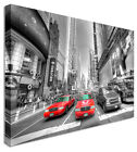 Large New York Taxi Red - Canvas Wall Art Pictures For Home Interiors