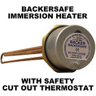 Immersion Heater & Thermostat. Various Lengths. Backer Brand