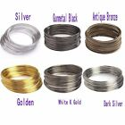 500/100loop Plated Memory Steel Wire For Cuff Bangle Bracelet 0.6mm U Pick Color