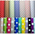 Vinyl PVC Tablecloth - Easy Wipe Clean POLKA DOT Spot Patio Oilcloth 140cm Wide