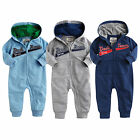 "NWT Vaenait Baby Infant Boy's Jumpsuit Hoodie Onepiece Outwear""Dads Team Hoodie"""