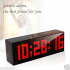 Led Wall Watch Digital Alarm Clock Table Timer Date Snooze Thermometer Timer New